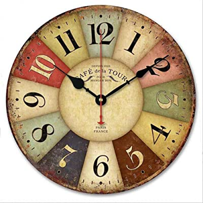 FUSHENG Reloj De Pared, Reloj De Pared Del País, Reloj De Pared Floral,