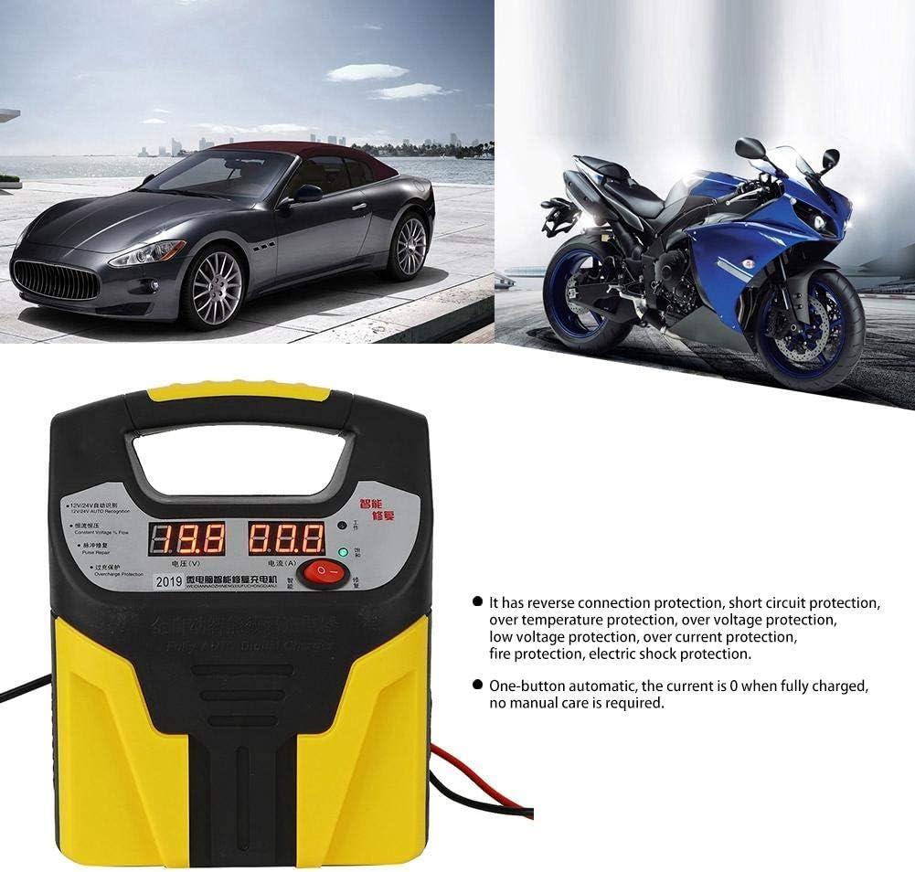 Cargador de bater/ía de coche Cargador de pantalla LCD Reparaci/ón inteligente de pulso