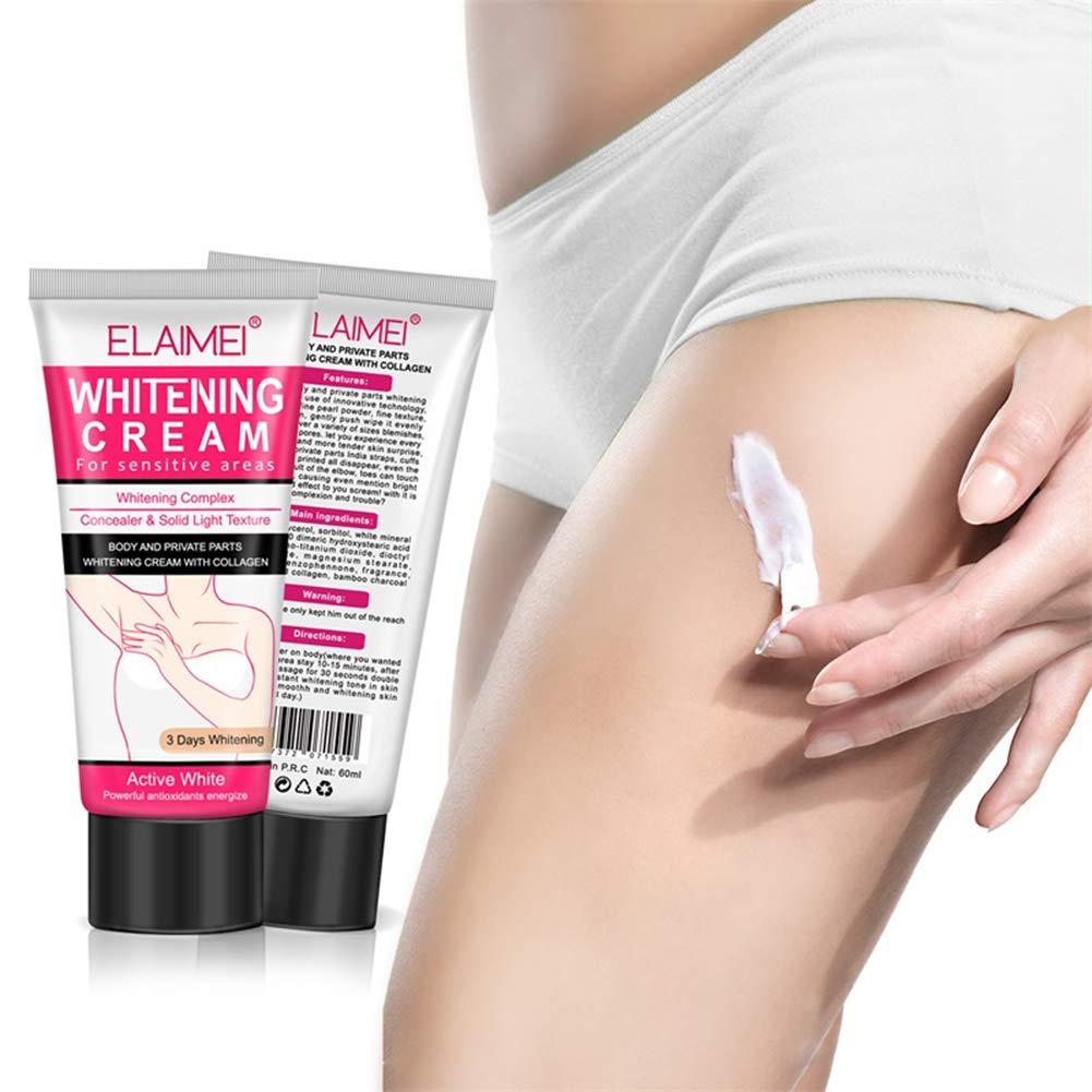 Skin Whitening Cream Wisolt Crema desodorante blanqueadora natural para la piel oscura, Axila, codo, cuerpo, cuello, reparación de axilas Crema blanqueadora ...