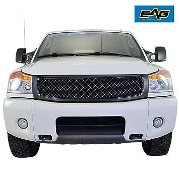 Amazon.com: e-autogrilles Glossy Negro ABS Repuestos Rejilla ...