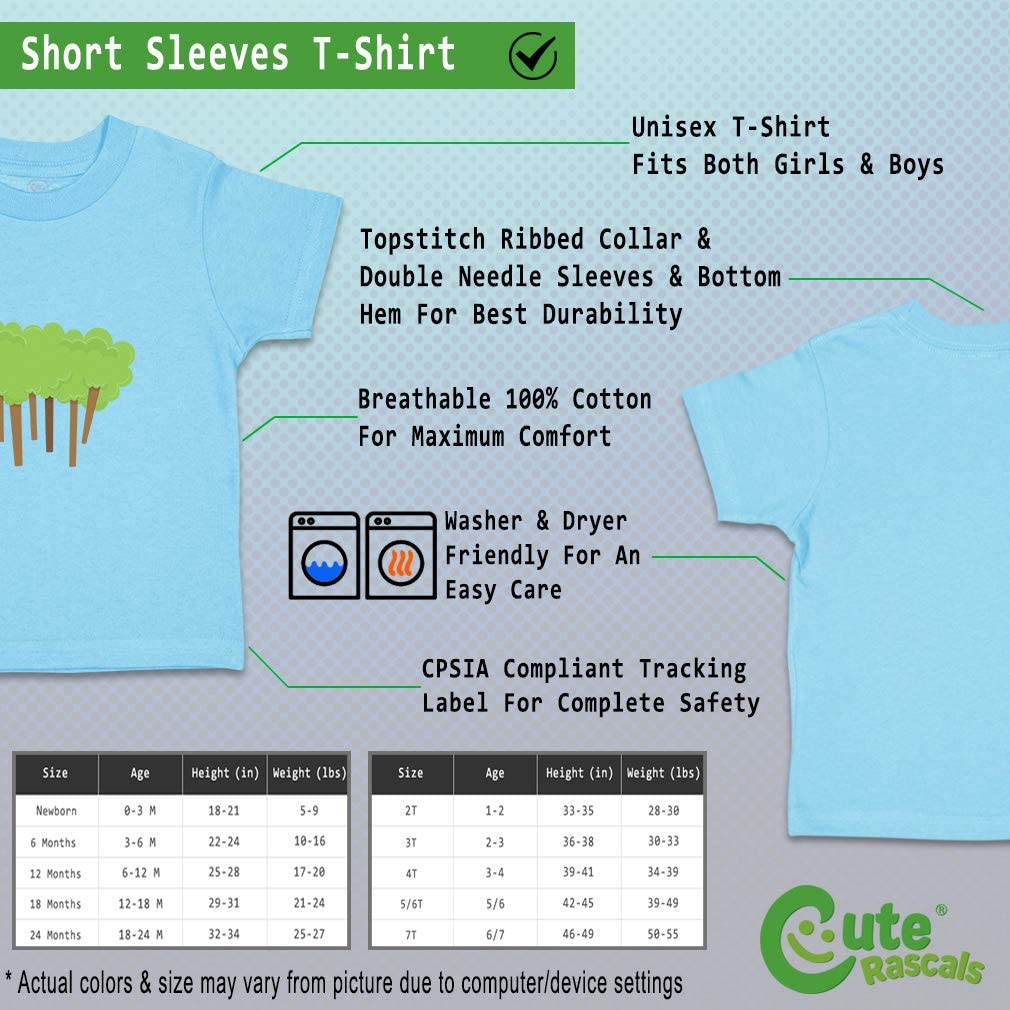 Custom Baby /& Toddler T-Shirt Forest Cotton Boy /& Girl Clothes Funny Graphic Tee