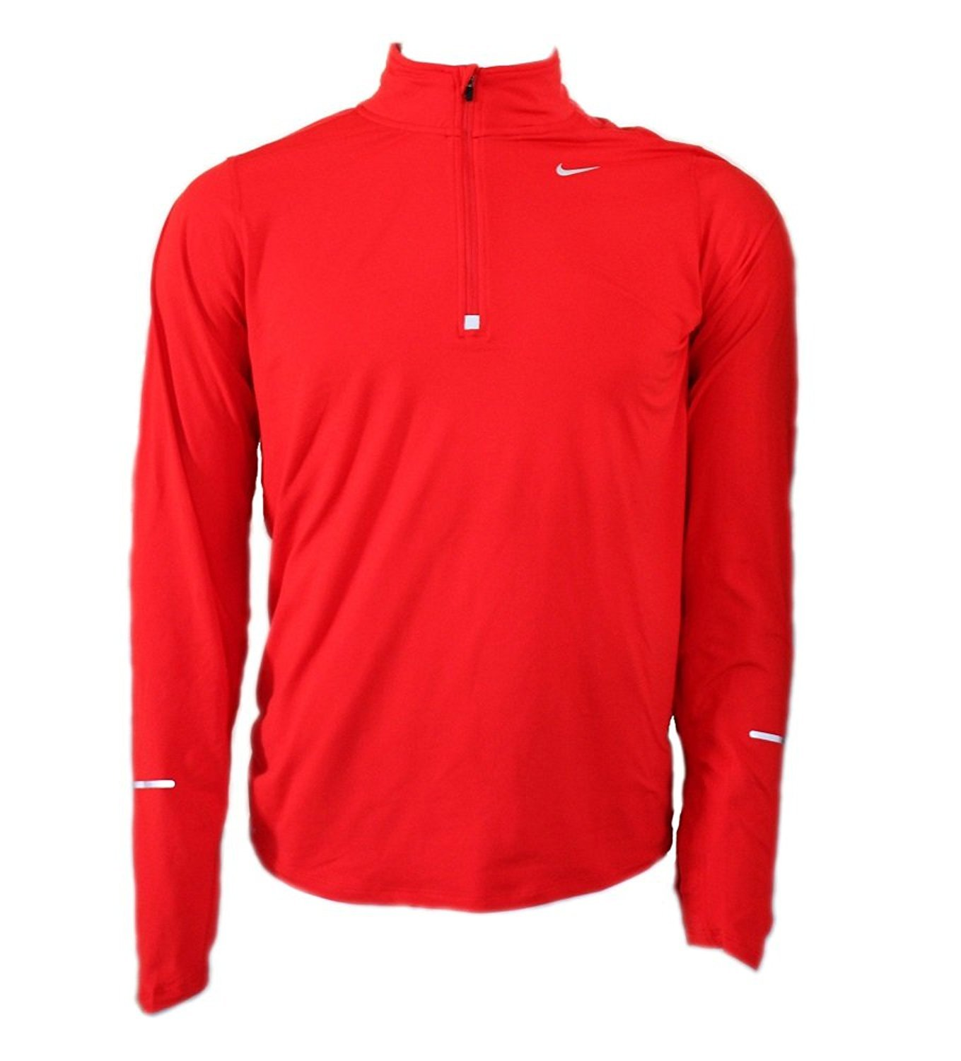 NIKE Men's Dry Element Running Top B06XXD9H74 Medium|Red/Reflective Silver