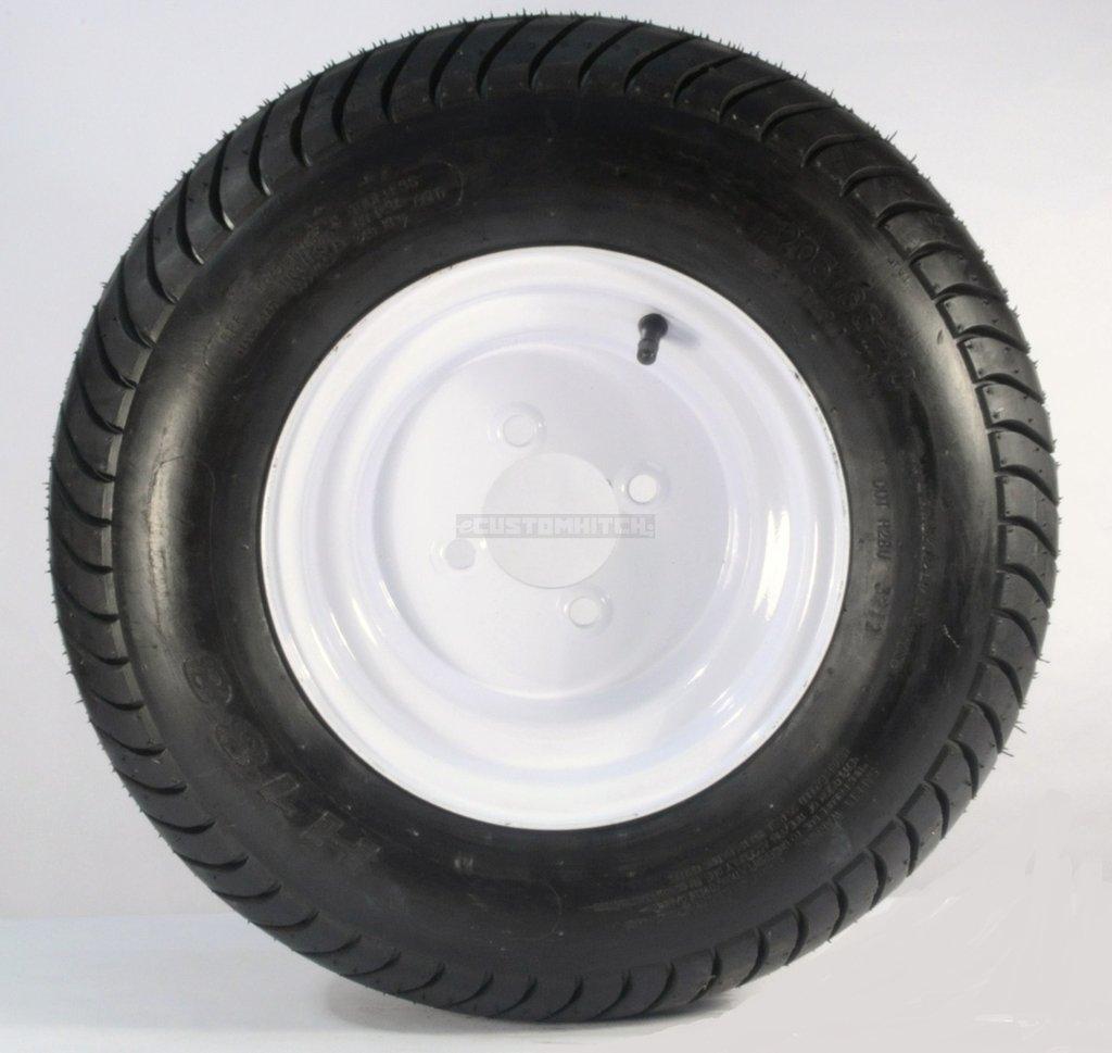 4x4 20.5x8x10 White Trailer Wheel Bolt Circle