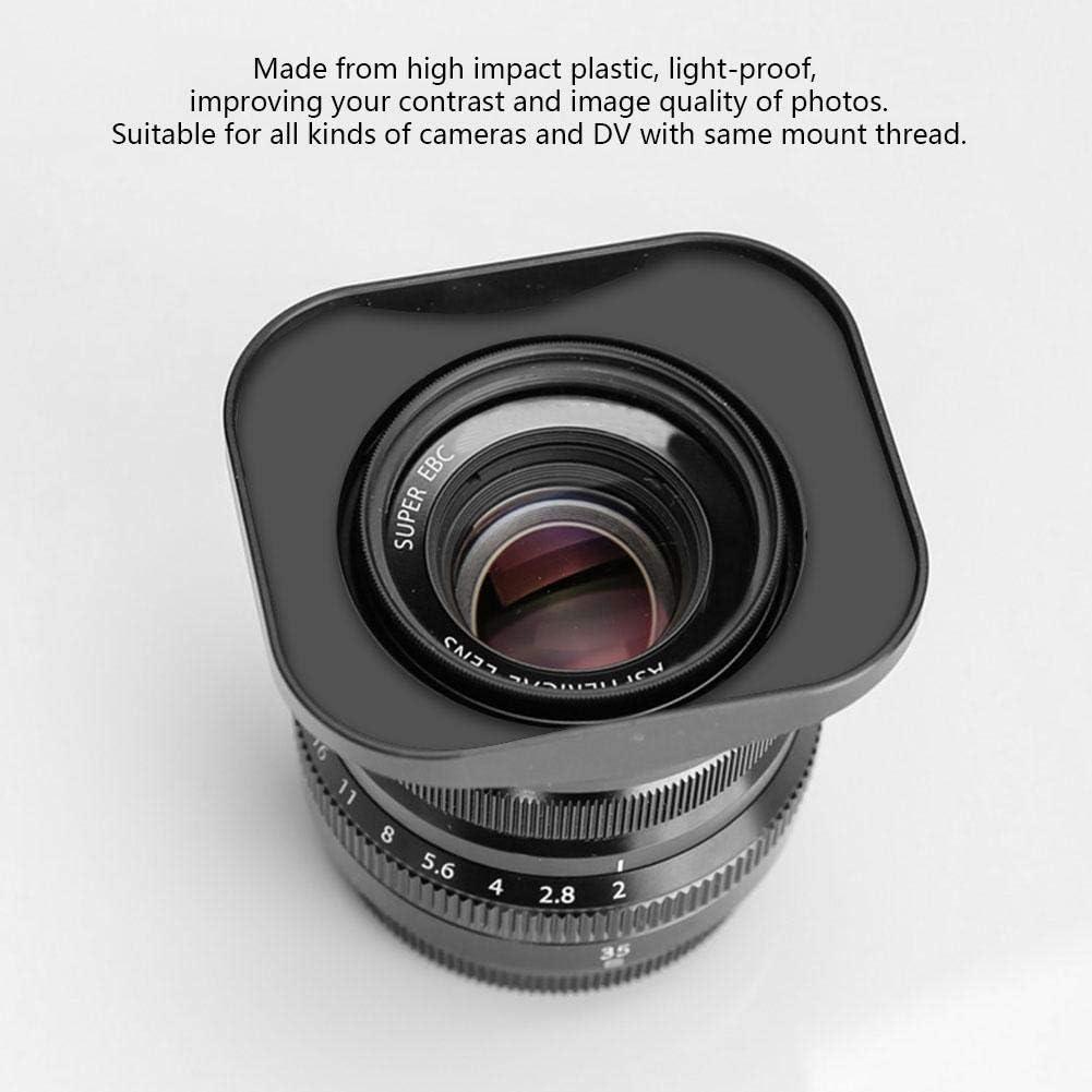 Taidda Square Lens Hood Shade Accessory #2 Light-Proof Lightweight Portable for DV Camcorder Digital Video Camera Lens Filter