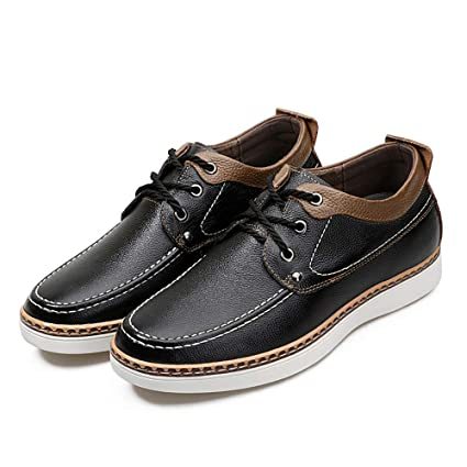 Shufang-shoes, Zapatos Mocasines para Hombre 2018 Mocasines Casuales Zapatos de Ascensor de 2""