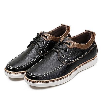 Shufang-shoes, Zapatos Mocasines para Hombre 2018 Mocasines Casuales Zapatos de Ascensor de 2&quot