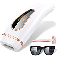 IPL Permanent Painless Hair Removal Device, Adjustable Dual Mode Flash 999,999 Flashes Facial Whole Body Profesional Hair Remover Device At-Home for Female Male by Panadoo
