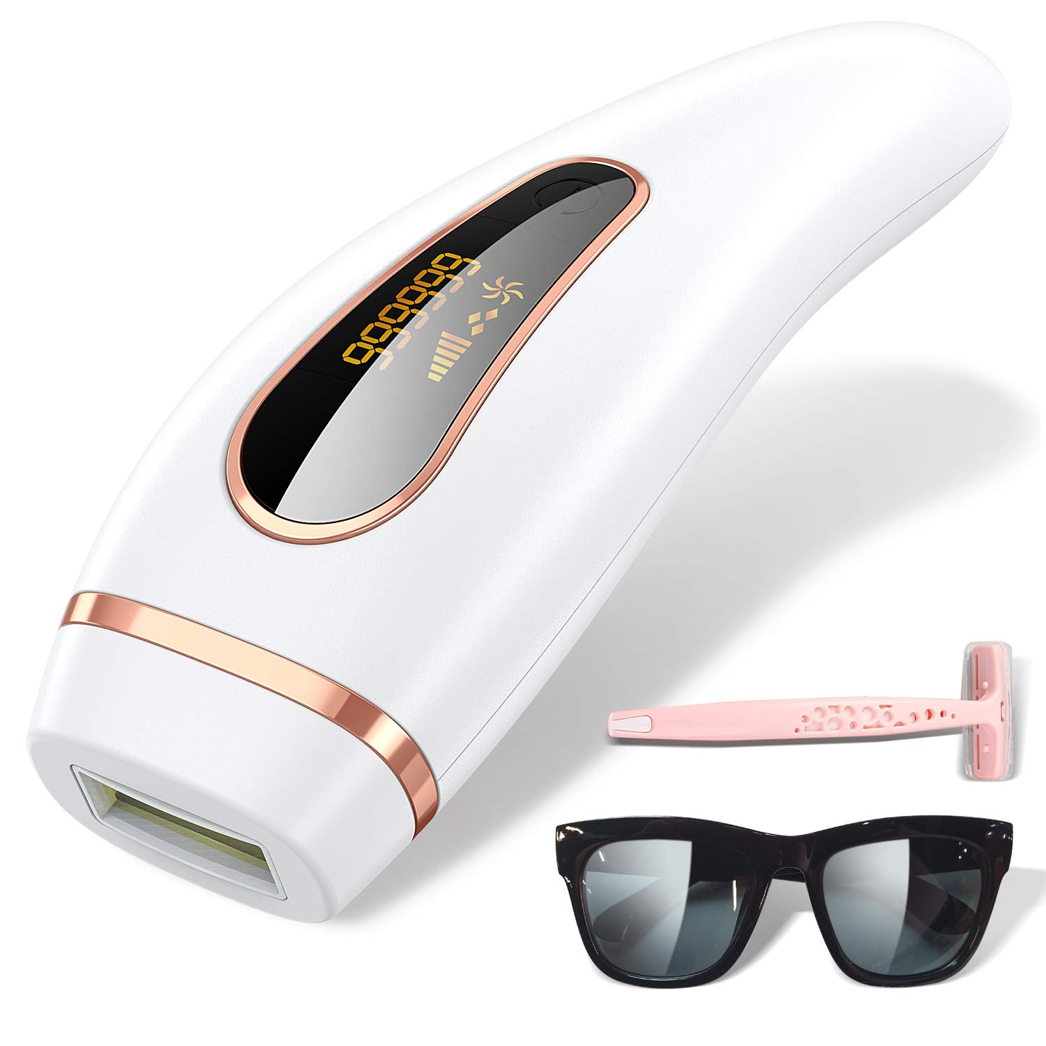 IPL Hair Removal, 999,999 Flashes Painless Hair Remover Device for Whole Body Professional Hair Remover Device At-Home for Female