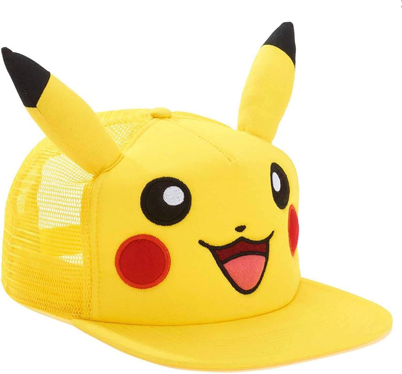 bioworld Pokemon Pikachu Snapback Hat One Size Fits Most Pikachu Hat Black