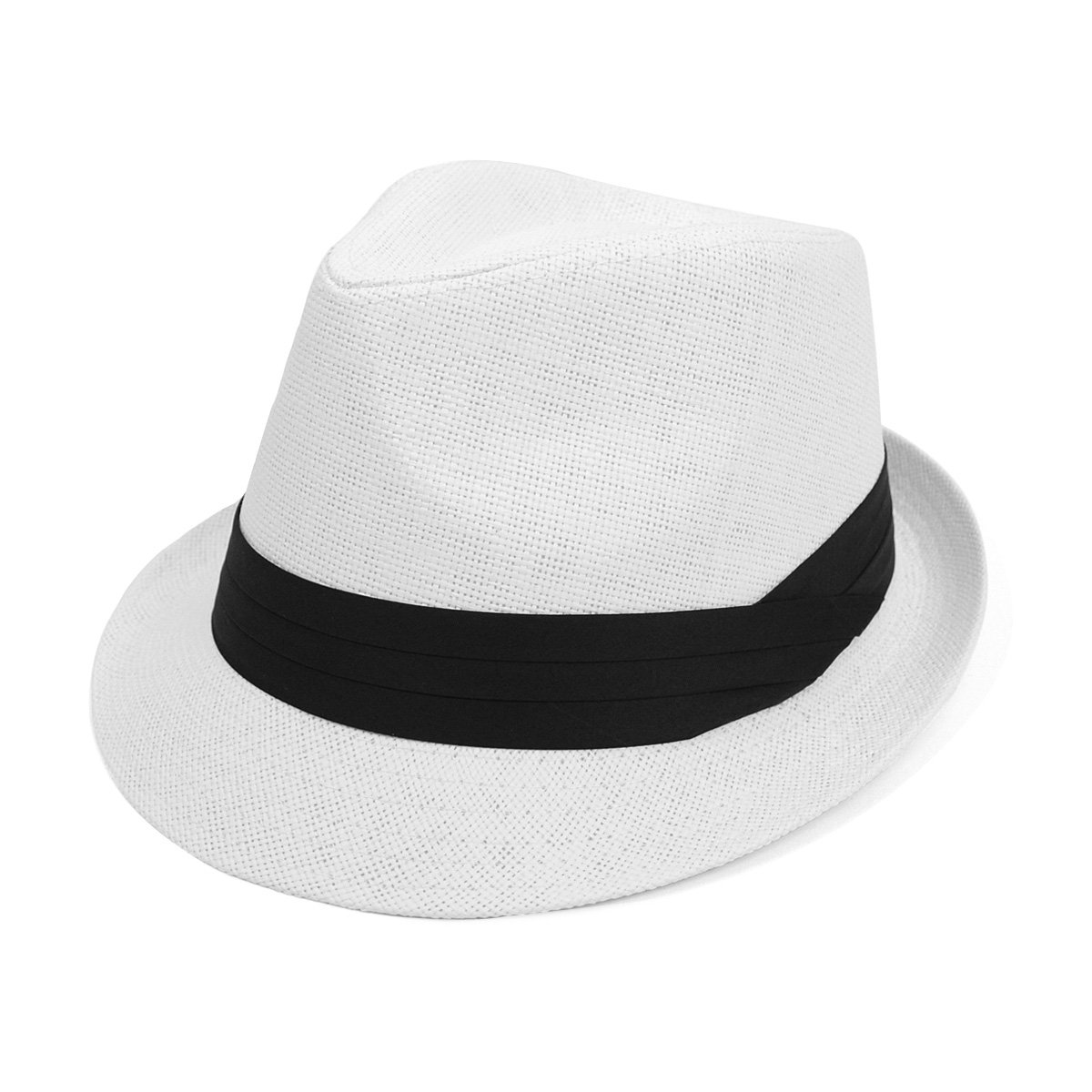 cc72e6540407d West End Men & Women Summer Fedora Hat with Black Band: Amazon.ca: Clothing  & Accessories