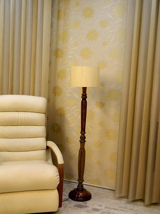 Tu Casa LG-957 220-Watt Floor Lamp (Off-White) Standing Lights at amazon