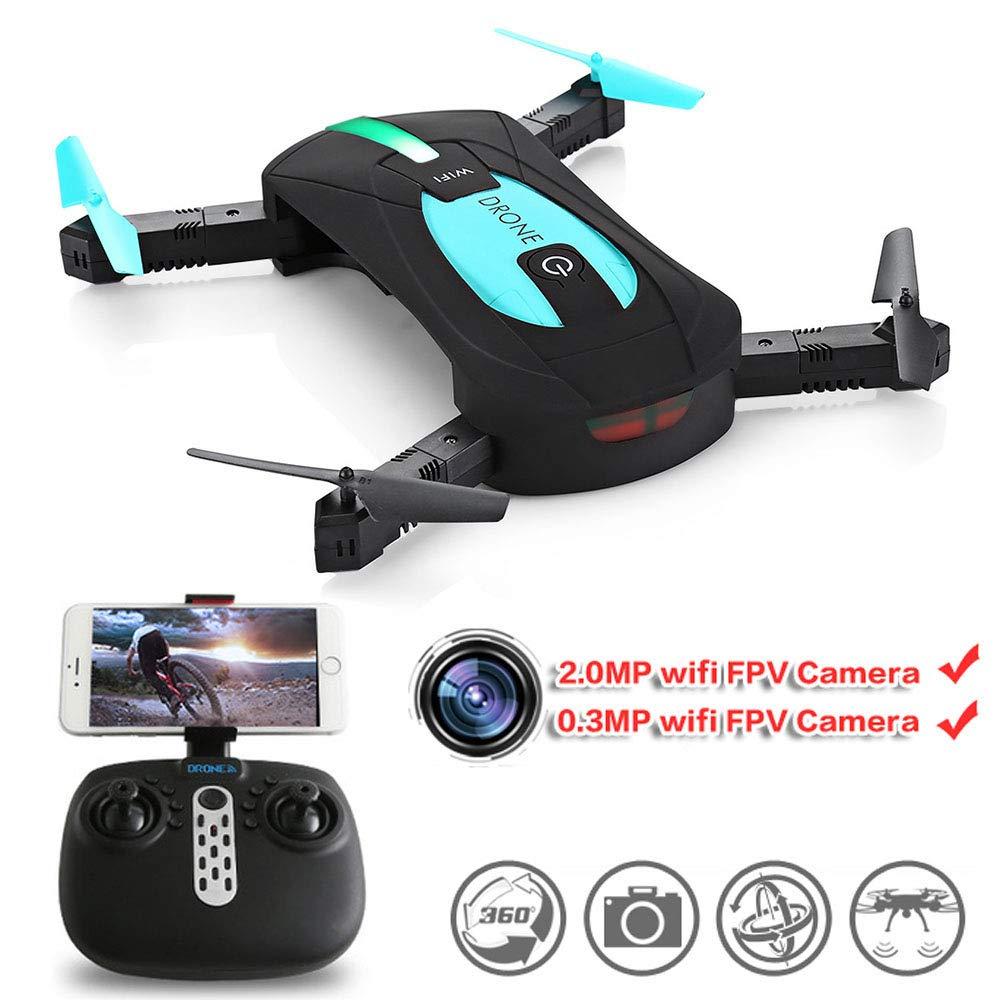 HUAXING Drone con Fotocamera 720P Pieghevole, RC Quadcopter con 2MP 720P grandangolare Video in Diretta, WiFi FPV
