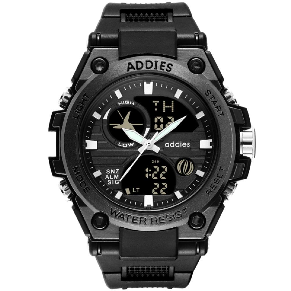 Vikano Mens Multifunction Digital LED Watch Electronic Waterproof Alarm Quartz Sports Watch