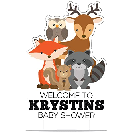 Amazoncom Victorystore Custom Woodland Baby Shower Decorations