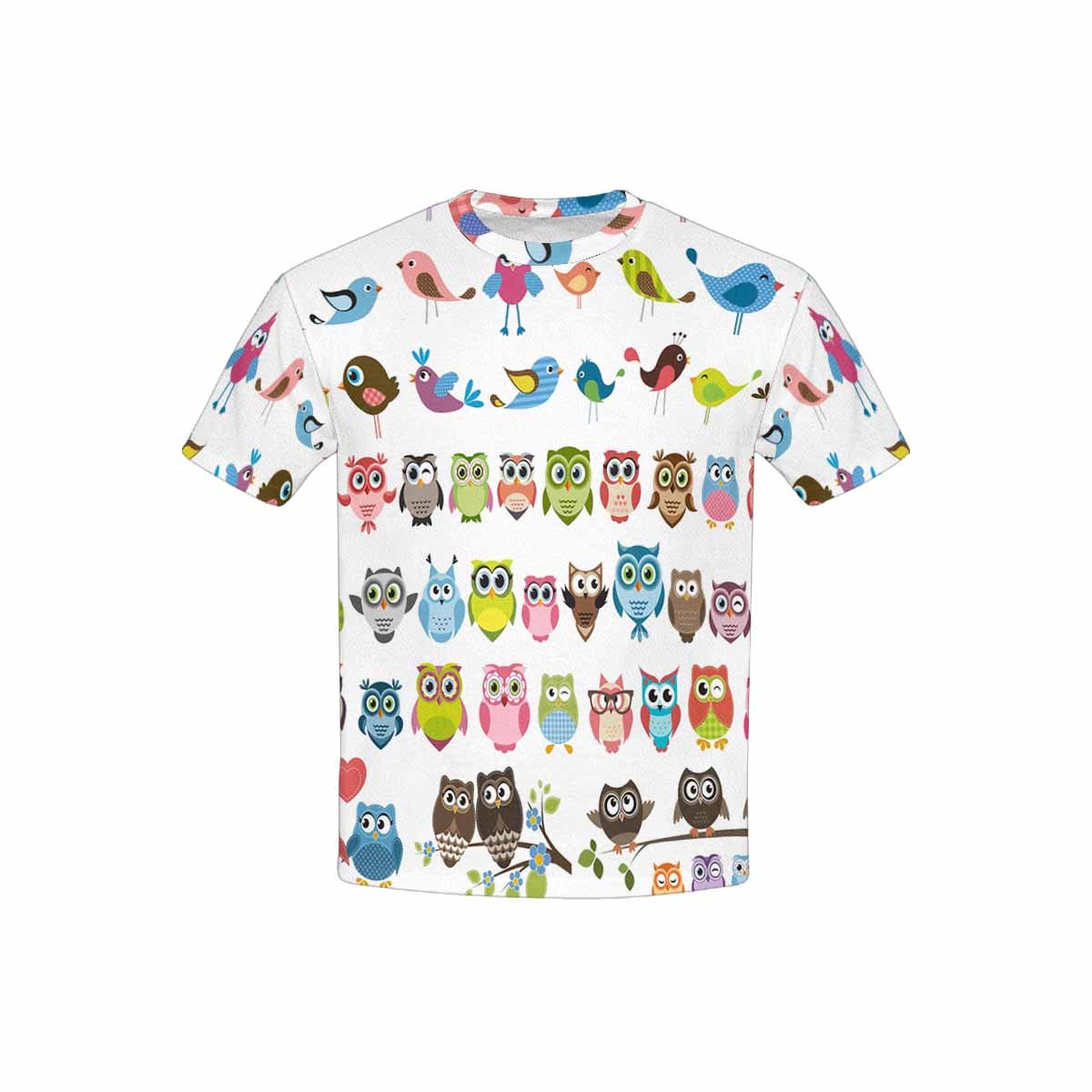 XS-XL INTERESTPRINT Childs T-Shirt Owls and Birds Set