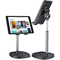 Cell Phone Stand,Angle Height Adjustable LISEN Cell Phone Stand For Desk,Thick Case Friendly Phone Holder Stand For Desk…