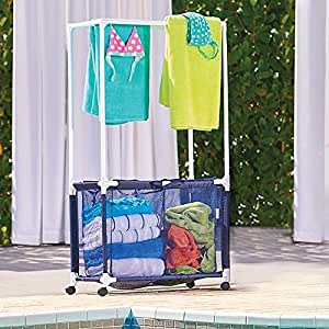 Amazon Com Rolling Pool Toy Storage Bin And Hamper With