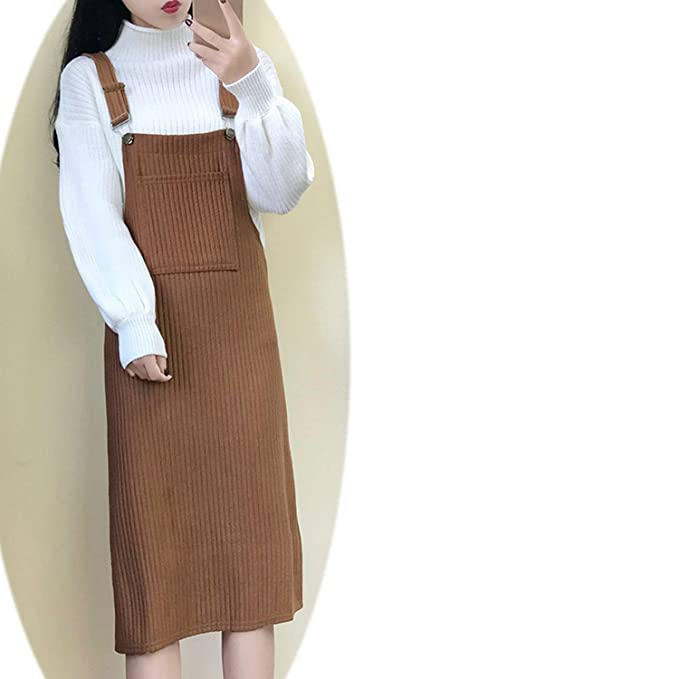 d3c657f9c Sunmiles New Version The Long Dress Set Knit Sweater Two-Piece Strap ...