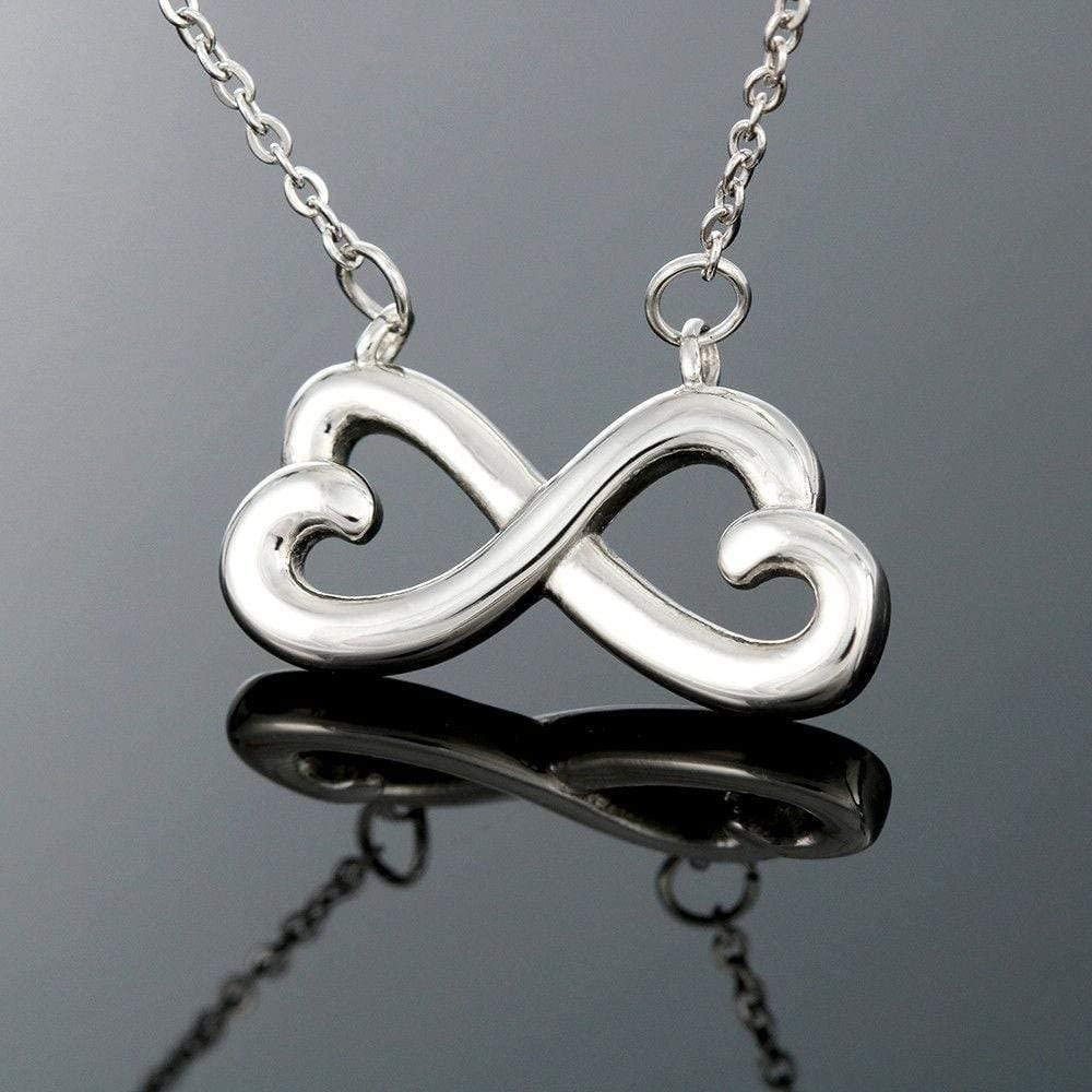 Mothers Day Infinity Stainless Steel Pendant Mother Thinking of You Necklace