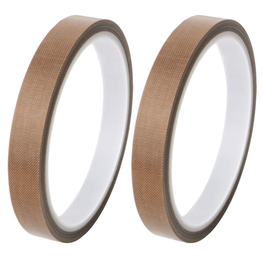 TOOHUI 2PCS High Temp Tape, PTFE Tape/Teflon Tape, High Temperature  Adhesive Tape, Vacuum Machine Sealer Tape for Vacuum Hand Impulse Sealers,  Heat