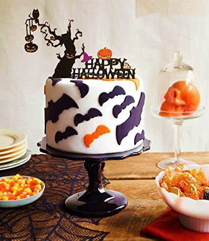 Amazon Com Set Of 2 Jevenis Halloween Cake Decoration Halloween