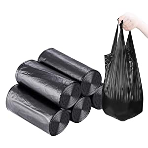 Small Trash Bags,5 Rolls 46x60 cm 100 PCS 4 Gallon Garbage Bags, Trash Bags for Kitchen Bathroom Bedroom Office Use