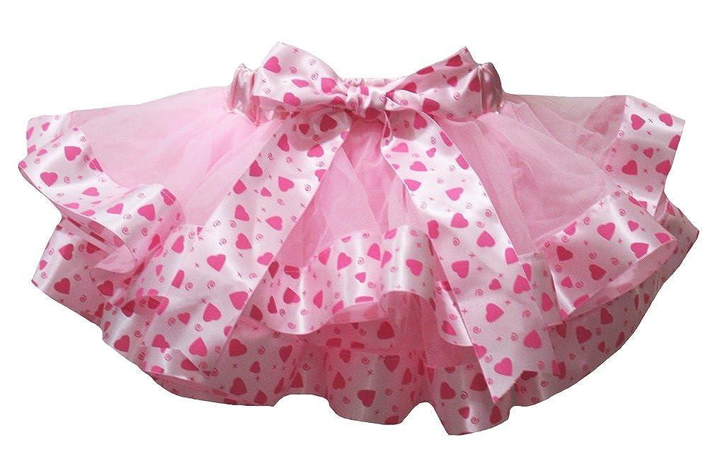 Petitebella Valentine Dress Pink 4 Layer Hearts Ribbon Girl Petal Skirt Nb-8y