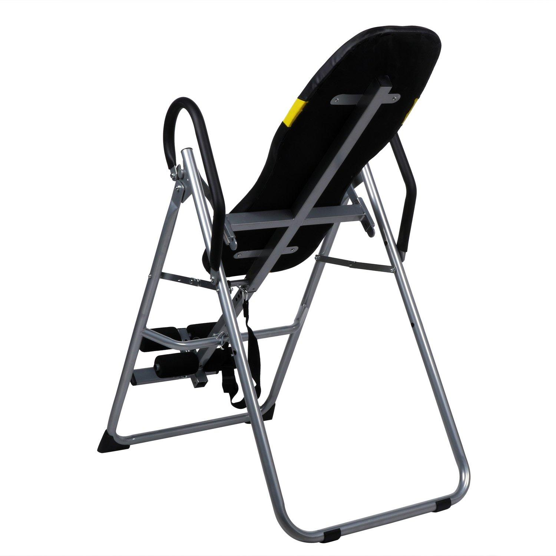 mymotto Machine de Musculation Gravit/é Inversion Table Back Pad Hang Exercice Home Office Gym Fitness pour lentra/înement