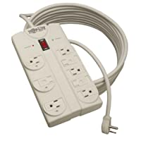 Tripp Lite 8 Outlet Surge Protector Power Strip, Extra Long Cord 25ft, Right-Angle Plug, Lifetime Limited Warranty & $75K INSURANCE (TLP825)