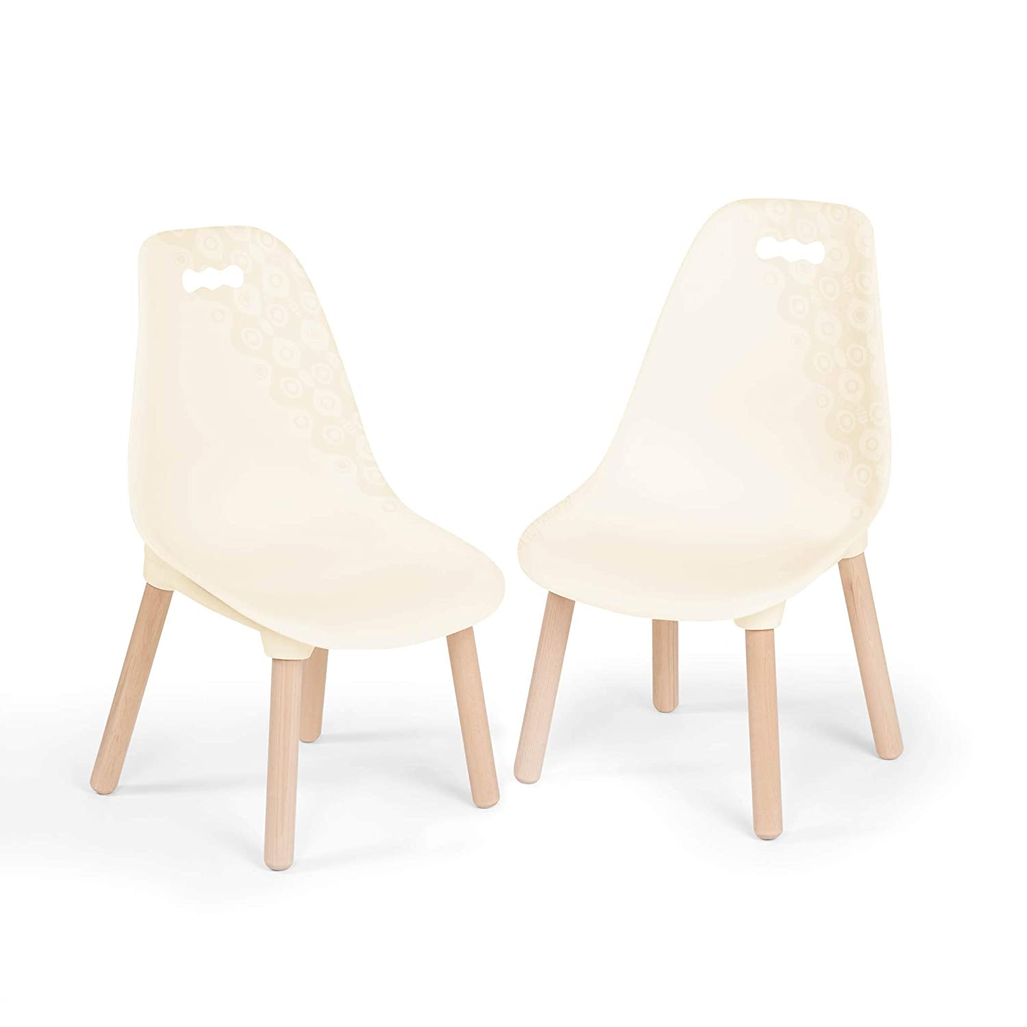 B. Spaces durch Battat - Kid Century Modern: Chair Satz &Ndash; Trendy Kid-Sized Furniture Satz von zwei Chairs bei Ivory