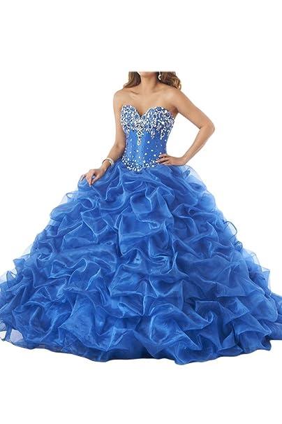 Gorgeous Novia Royal azul impresionantes cristales de novia (Prom Vestido de fiesta vestidos de novia quinceañera: Amazon.es: Ropa y accesorios