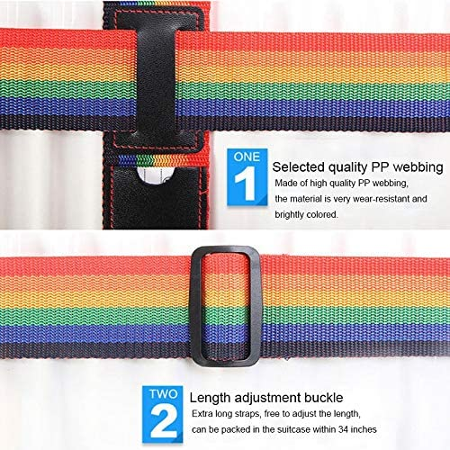 Color : Colour Black TravelYHM Cross Rainbow Elastic Telescopic Bag Bungee Luggage Packing Belt Travel Luggage Fixed Strap