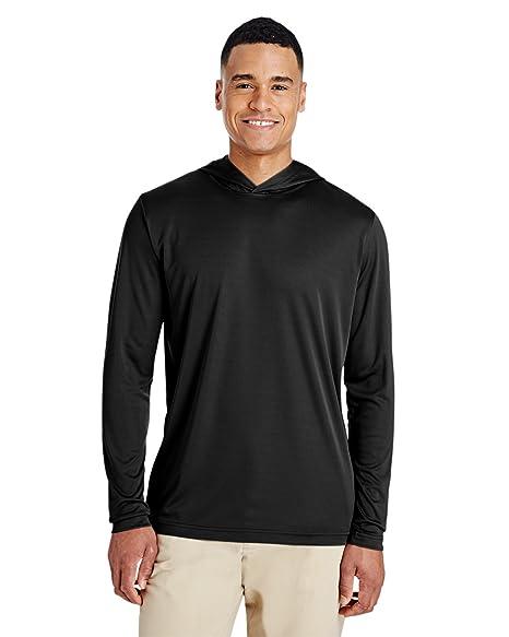 2e0ae9ed Amazon.com: Team 365 Mens Zone Performance Hoodie T-Shirt (TT41 ...