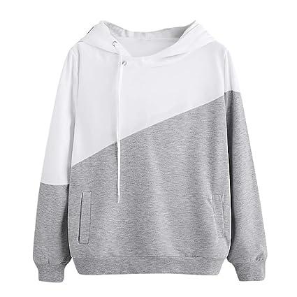 Damen Hoodie Sweatshirt, Wraluhen Teenager Mädchen Bauchfrei Kapuzenpullover Gedruckt Langarm Kurz Hoodie Sweatshirt Crop Pul