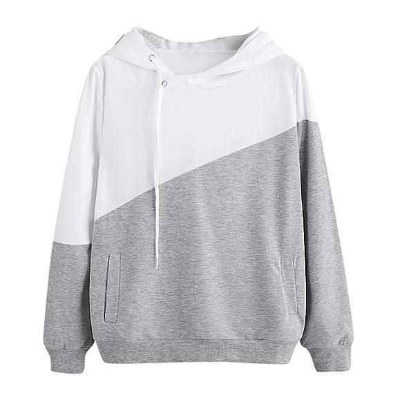 31b72c8d8064e NINGSANJIN Sweatshirt Femmes Pull Sweat à Capuche Manches Longues Color  Block Sweatshirt Pull Tops  Amazon.fr  Vêtements et accessoires
