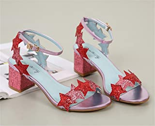 HETAO personnalité Glitter Elegant Strappy Sequins Star Blue Black Pinkhigh Heel Sandales , 35 Le cadeau de la fille