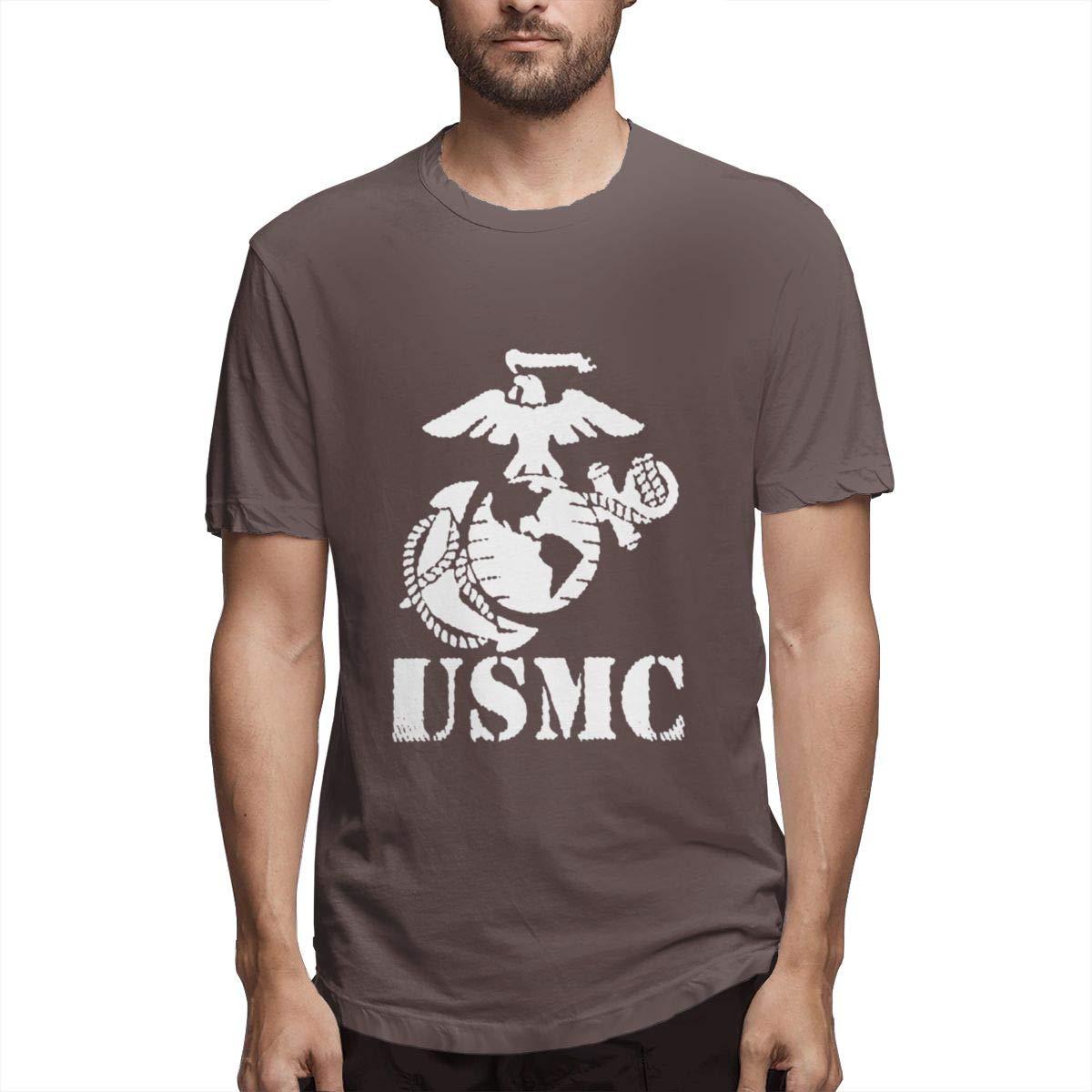 Seuriamin USMC Marine Corps Men Fashion Travel Short Sleeve Shirt