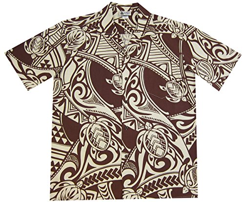 Aloha Republic Maori Tribal Tattoo Mens Hawaiian Shirt