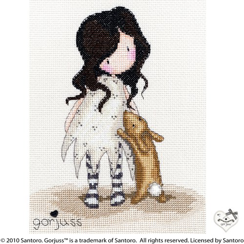 Bothy Threads Gorjuss I Love You Little Rabbit Cross Stitch