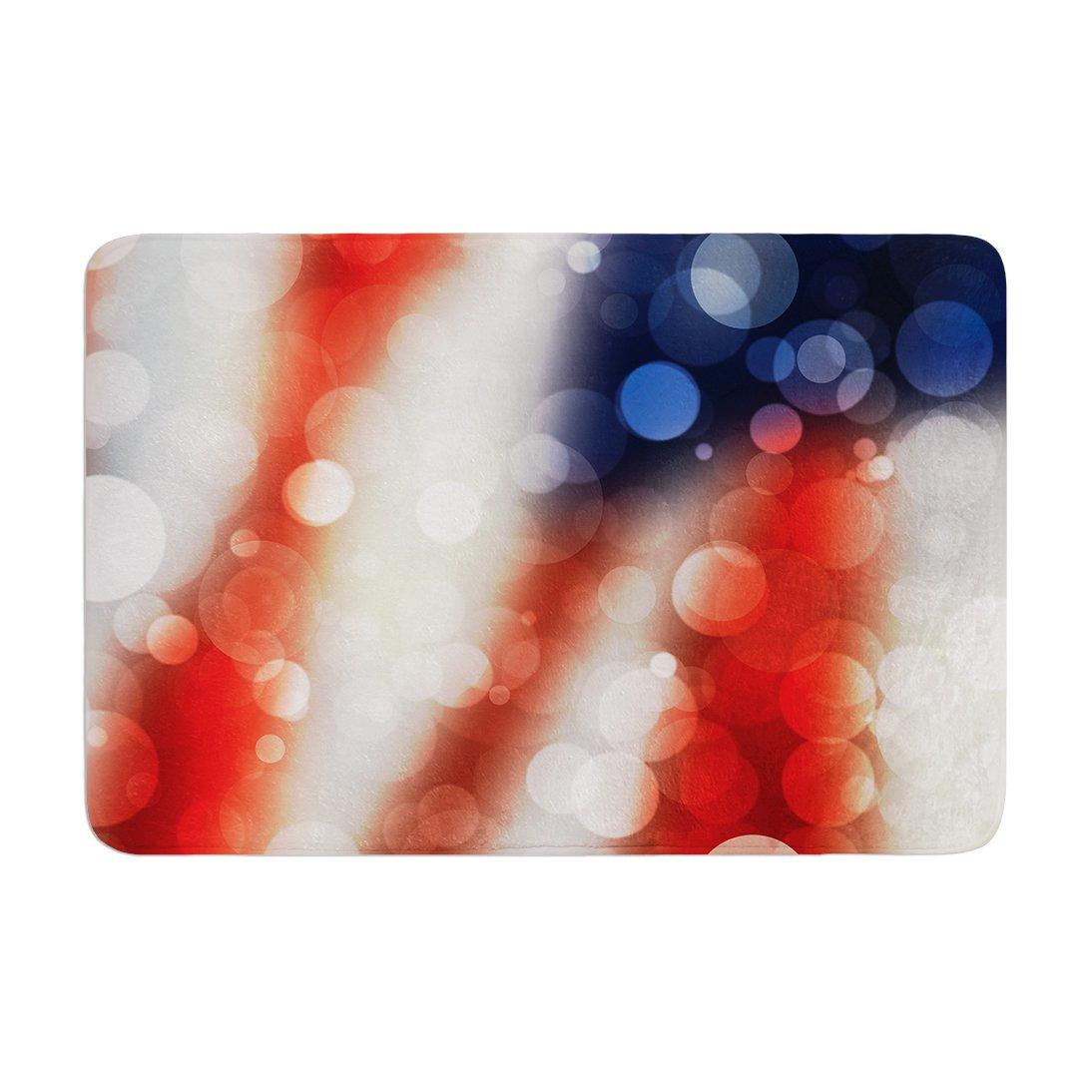 KESS InHouse KIH058ABM02 Bath Mat KESS Original ''Patriot'' America Bokeh Memory Foam Bath Mat, 24'' X 36'',,