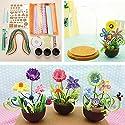 クイリング紙Flower Pot PlantカラーペーパーアートPottedクラフトツールセット
