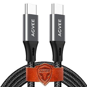 Amazon.com: Cable USB C a C de alta resistencia, sin ...