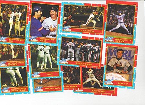 1987 Fleer Glossy 1986 World Series Baseball Card Set - New York Mets--Boston Red Sox ()