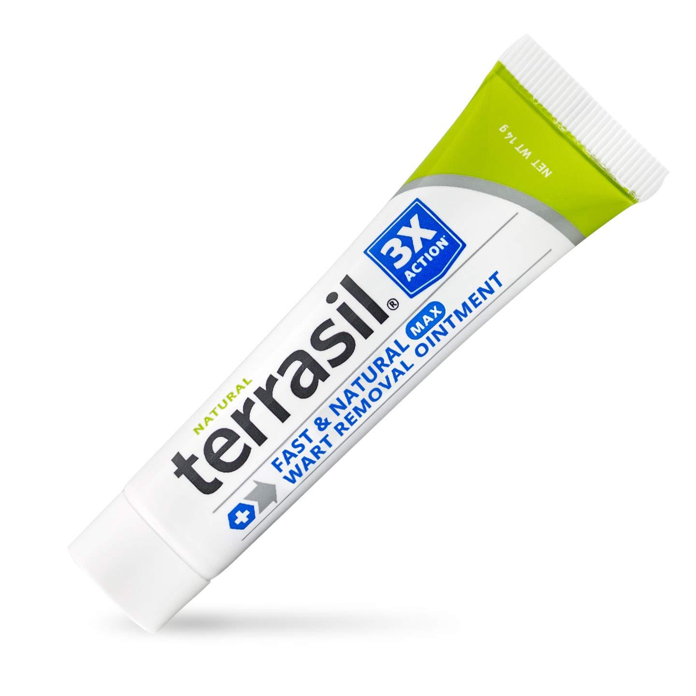 Wart Remover MAX - Safe for Sensitive Skin Natural Pain Free Salicylic Acid Free Patented Treatment for Plantar Genital Facial Warts by Terrasil - 14gm Tube
