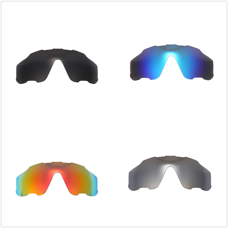 7ccdde443e Amazon.com  4 Pairs NicelyFit Polarized Replacement Lenses for Oakley  Jawbreaker Sunglasses Glass Frames  Clothing