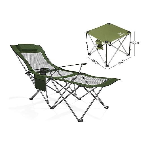 HPLL Silla de Camping Plegable Sillas de Cubierta Para ...
