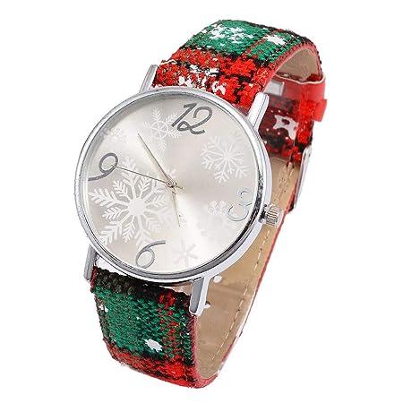 Amazon.com : LtrottedJ Women Christmas Pendant Watch Casual ...