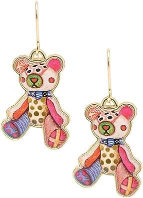 CUTE LITTLE TEDDY BEAR  GIRLS  DROP EARRINGS  Silver plated hooks in Gift Bag