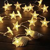 Catena Luminosa LED | Innoolight 3 metri 30 LED Stelle Catena di Luci a Batterie Bianco Caldo | Decorazione per Giardino, Abitazioni, Ballare, Matrimoni, Festa di Natale