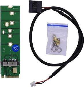 HUYUN 12+6 Pin Bluetooth WiFi Wireless Card Module to M.2 NGFF Key B+M Adapter for BCM94360CD BCM94360CS2 BCM943224PCIEBT2